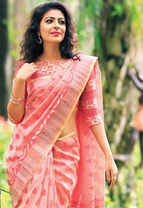 Baby Pink Colour Soft Silk Designer Saree UK30237
