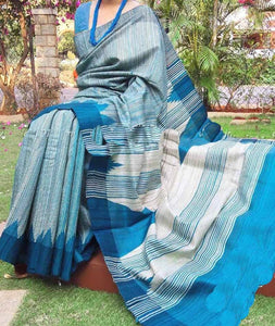 Sky Blue Colour Soft Silk Designer Saree UK30239
