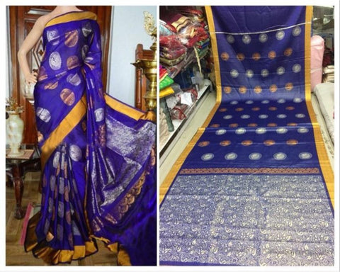Blue Colour Soft Silk Designer Saree UK30249