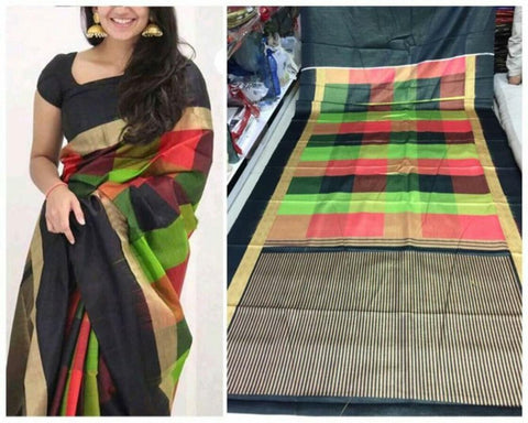 Black Colour Soft Silk Designer Saree UK30257