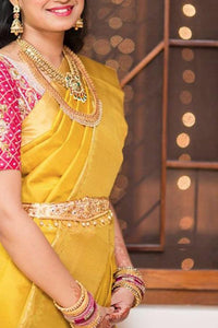 Awosome Yellow Colour Soft Silk Designer Saree UK30037
