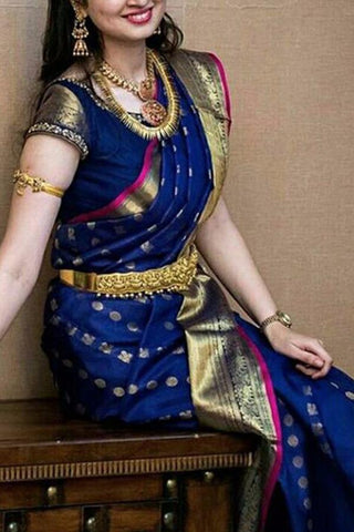Blue  Colour Soft Silk Designer Saree UK30041