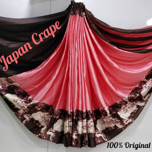 Japan crape silk saree 5018