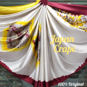 Japan crape silk saree 5024