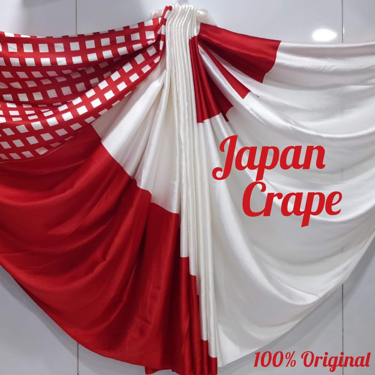 Japan crape silk saree 5025