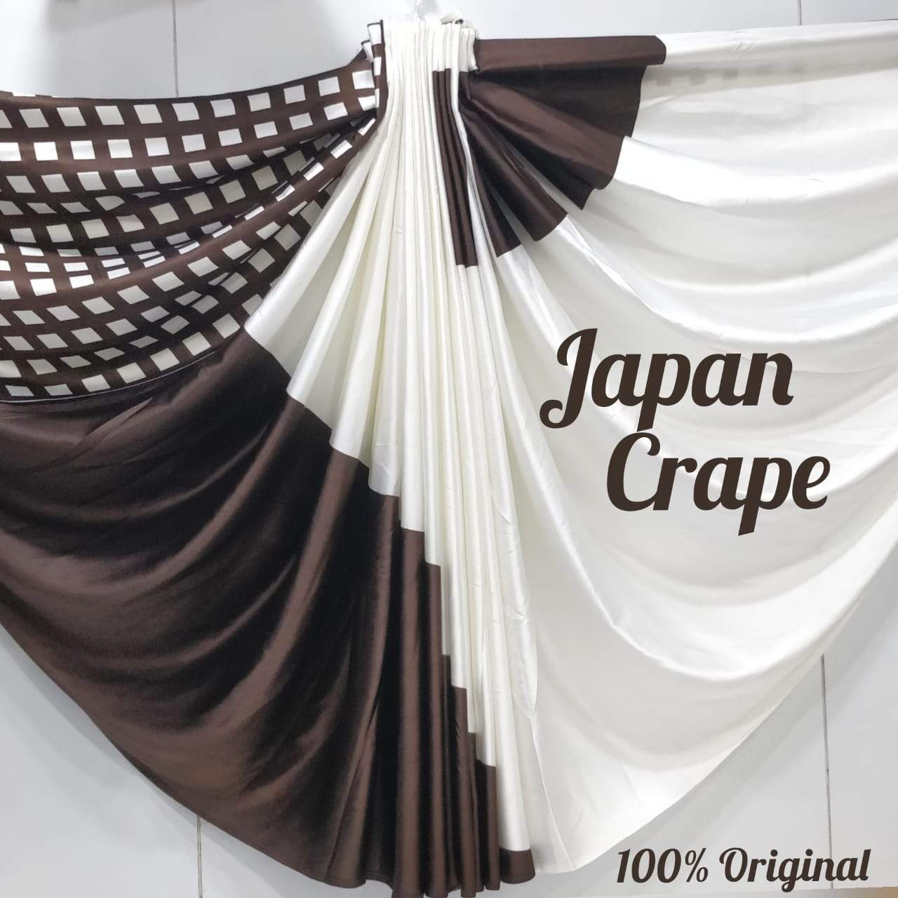 Japan crape silk saree 5028