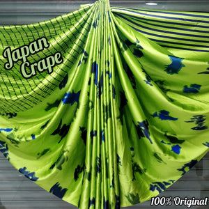 Japan crape silk saree 5072