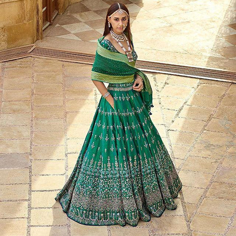 NEW DESIGNER WEDDING WEAR LEHENGA CHOLI - AE-1003