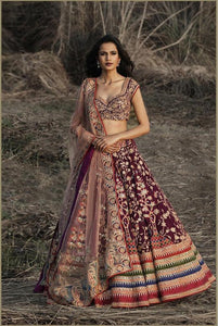 GORGEOUS LOOKING WEDDING WEAR LEHENGA CHOLI - AE-1004