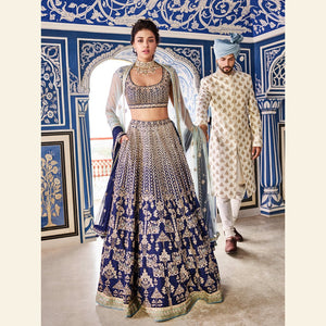 GLORIOUS WEDDING WEAR LEHENGA CHOLI - AE-1005