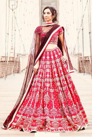 AWSOME WEDDING WEAR LEHENGA CHOLI - AE-1006