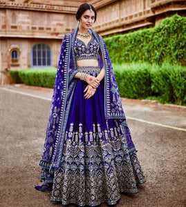 OUT STANDING WEDDING WEAR LEHENGA CHOLI - AE-1011