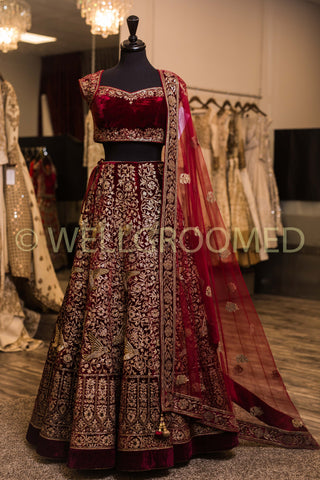 NEW LOOK DESIGNER WEDDING WEAR LEHENGA CHOLI - AE-1019
