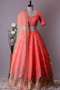 NEW DESIGNER WEDDING WEAR LEHENGA CHOLI - AE-1025
