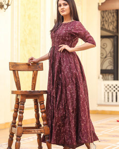 Pure american crepe traditional gown BN-1030
