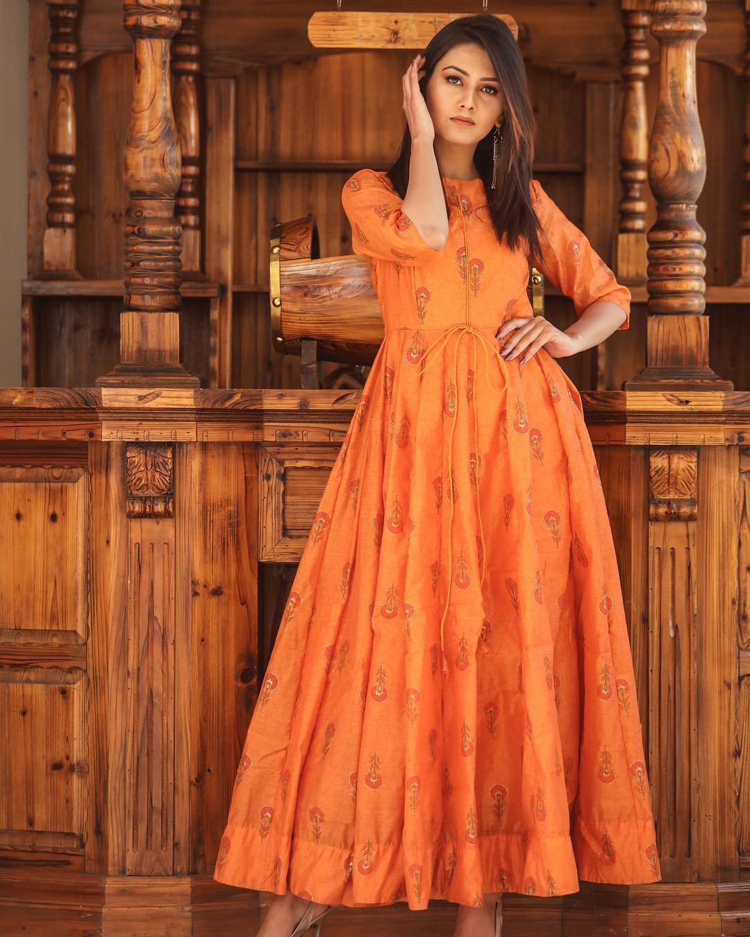 Pure american crepe traditional gown BN-1037