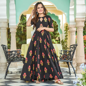 Pure american crepe traditional gown BN-1018
