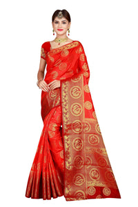 Circle Mor Pitch Color Pure Banarasi Silk Saree