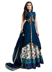 Designer Semi-stitched Party Wear Lehenga Choli- Chameli Blue