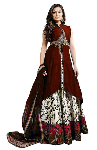 Designer Semi-stitched Party Wear Lehenga Choli- Chameli Maroon