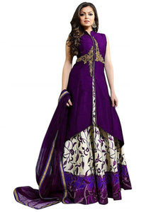 Designer Semi-stitched Party Wear Lehenga Choli- Chameli Purple