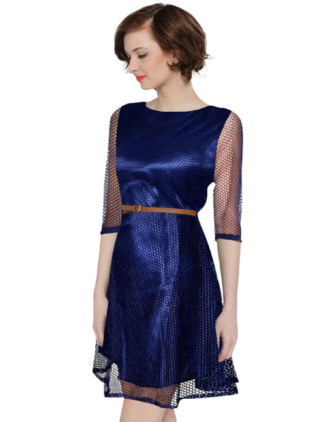 Fancy Exclusive Designer Nevy Blue Dress