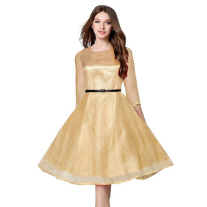 Fancy Exclusive Designer Beige Dress