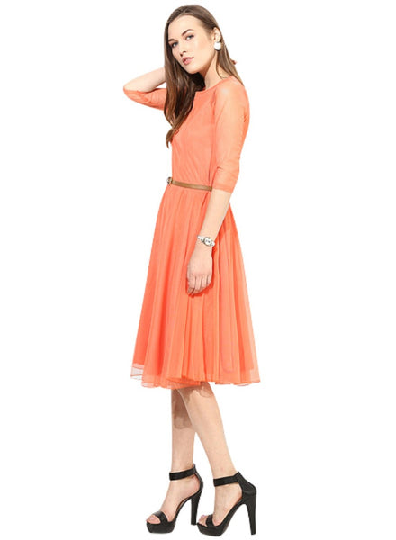 Awsome Exclusive Designer Orange Dress