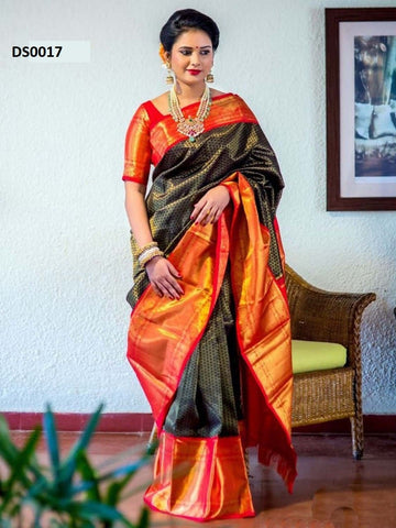 Awesome  Multi Colour Soft Silk Designer Saree DS0017