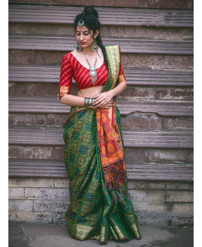 Out Standing Multi colour Linen Digital printed Saree - FB-1004