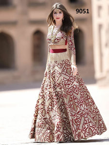 New Look Wedding Wear White Color Embroidered Semi-stitched Lehenga Choli