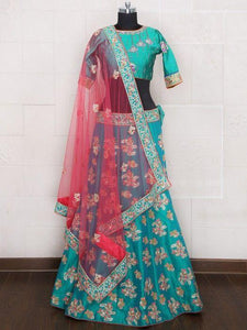 Classic Batli Color Embroidered Semi-stitched Lehenga Choli