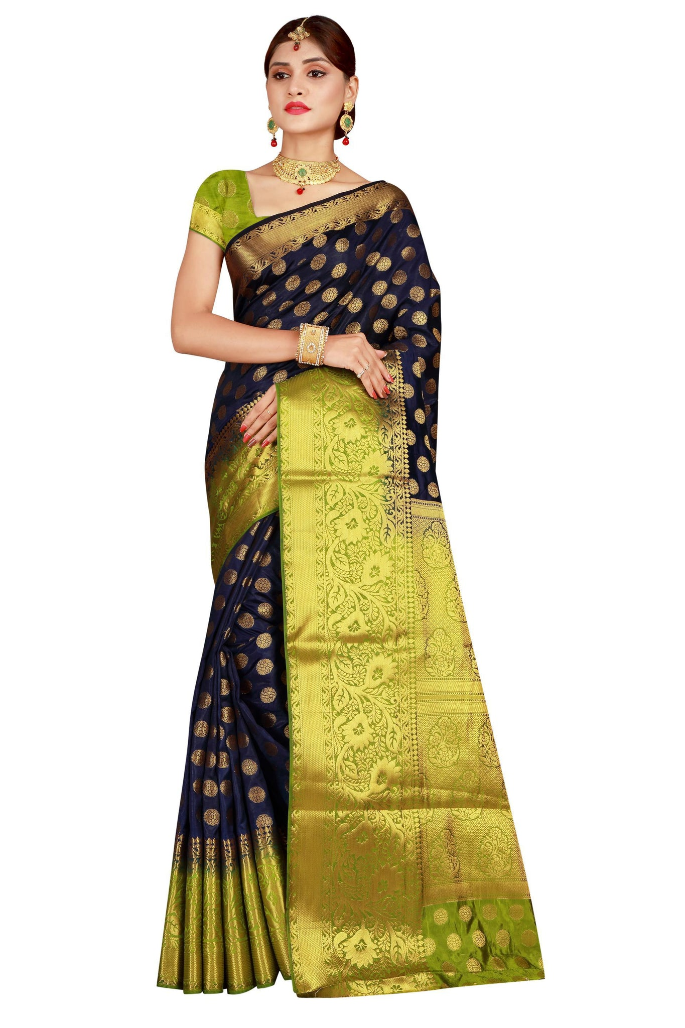 Jasan Jall Blue Color Pure Banarasi Silk Saree