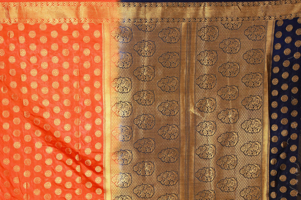 Jasan Jall Orange Color Pure Banarasi Silk Saree