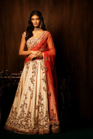 HEAVY EXCLUSIVE WEDDING WEAR LEHENGA CHOLI - JN-005