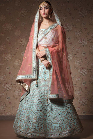 HEAVY EXCLUSIVE WEDDING WEAR LEHENGA CHOLI - JN-006