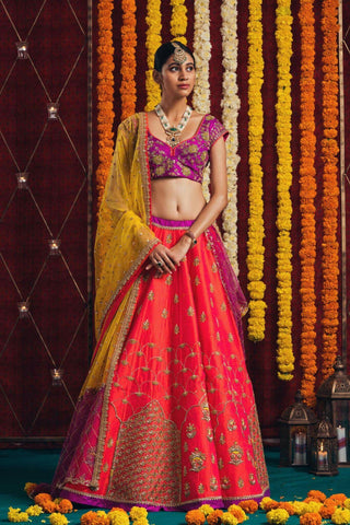 OUTSTANDING WEDDING WEAR LEHENGA CHOLI - JN-011
