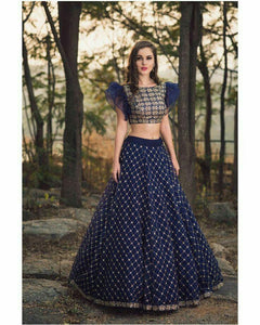 PRETTY EXCLUSIVE WEDDING WEAR LEHENGA CHOLI - JN-014