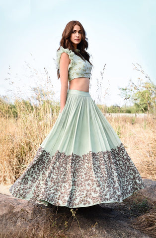 HEAVY EXCLUSIVE WEDDING WEAR LEHENGA CHOLI - JN-015