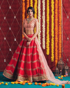 NEW EXCLUSIVE WEDDING WEAR LEHENGA CHOLI - JN-018
