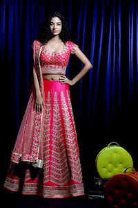 Indian Designer Wedding Wear Bridal Lehenga Choli JN-019