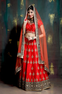 HEAVY EXCLUSIVE WEDDING WEAR LEHENGA CHOLI - JN-020
