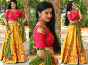 New Exclusive Designer Yallow Color Embroidery Lehenga Choli