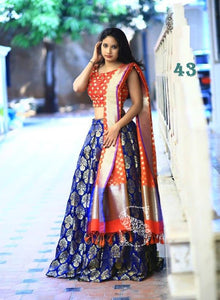 New Exclusive Designer Navy Blue Color Embroidery Lehenga Choli