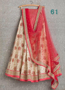 Fancy Exclusive Off White Color Embroidery Work Lehenga choli