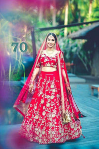 BEAUTIFUL COLOR AND WORK COMBINATION LEHENGA CHOLI