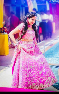 PINK BEAUTIFUL HEAVY EMBROIDERY LEHENGA CHOLI SET