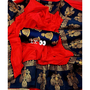 GITANJALI RED COLOR PAPER SILK SAREE BINDU-LSA1003