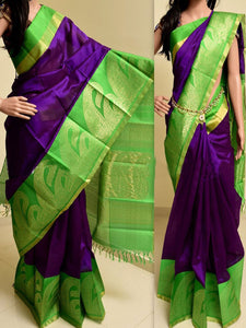 Biege Mix Colour Soft Silk Designer Saree UK770