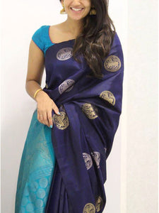 Blue  Colour Soft Silk Designer Saree UK984